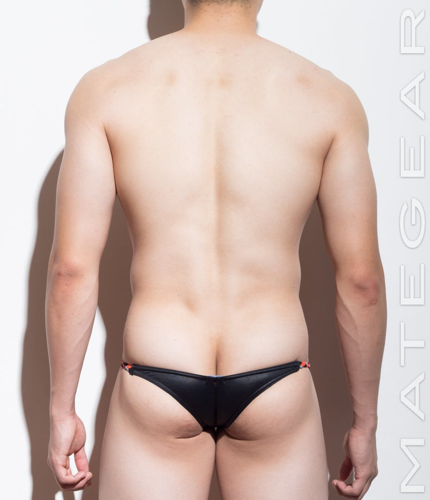 MATEGEAR - Sexy Men's Swimwear, Underwear, Sportswear and Loungewear - Mini Swim Bikini - Young Hwan (Half Back)