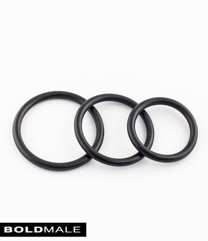 AIKEN Rubber Cock Ring XXXCR-11 (Set of 3)