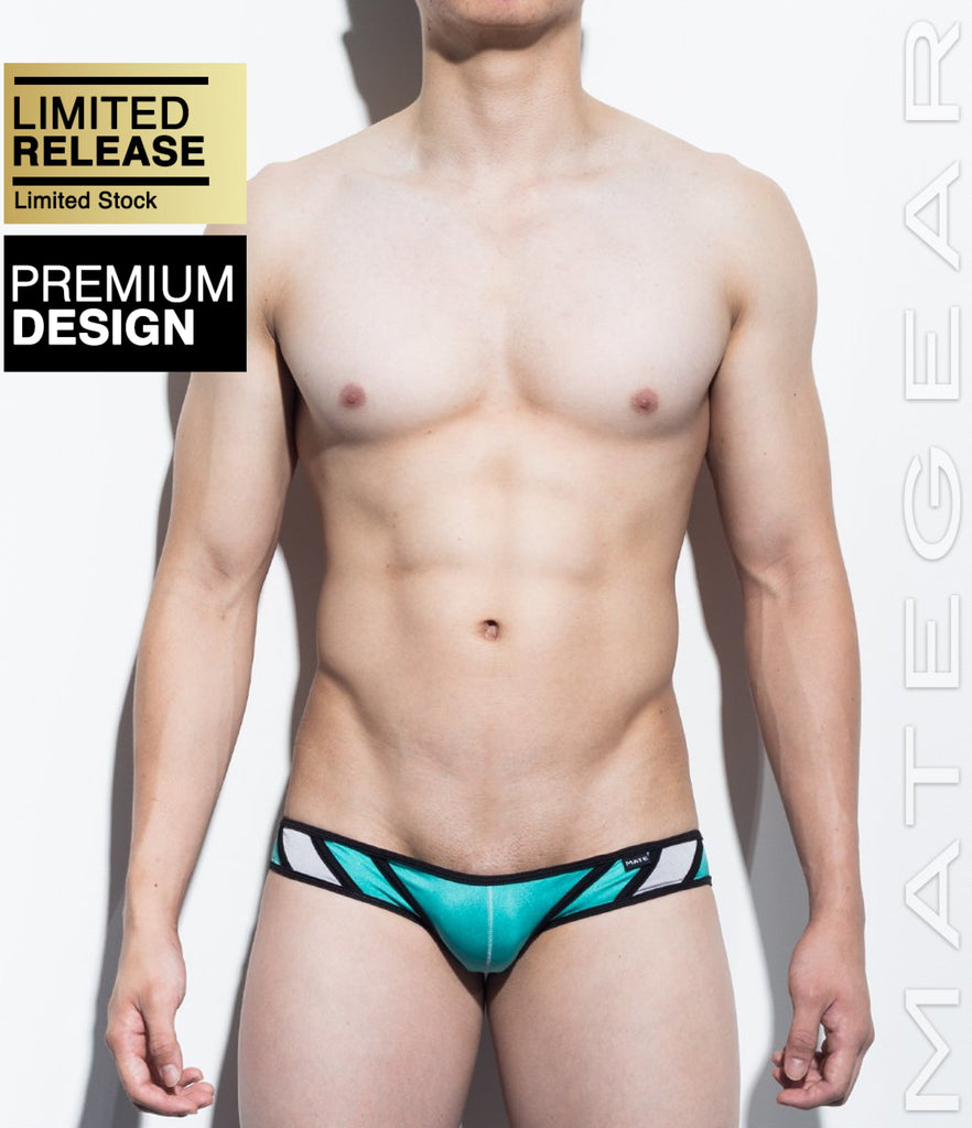 MATEGEAR - Sexy Men's Swimwear, Underwear, Sportswear and Loungewear - SALE! Mini Swim Squarecut - Ran Kwang III (Flat Front / Reduced Sides)