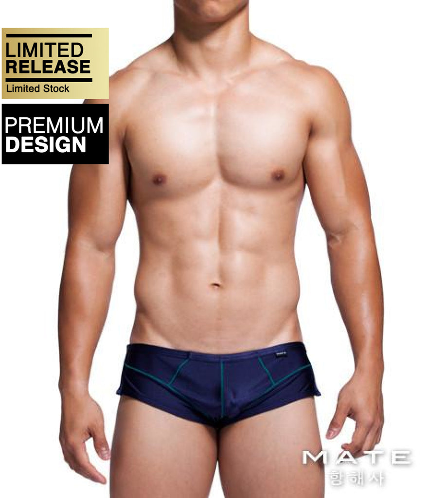 MATEGEAR - Sexy Men's Swimwear, Underwear, Sportswear and Loungewear - Sexy Men's Sportswear Mini Shorts - Uh Tae (Navy)