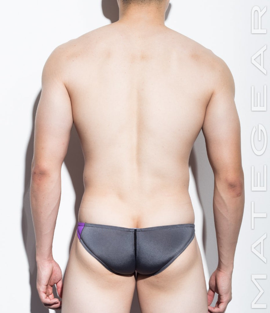 MATEGEAR - Sexy Men's Swimwear, Underwear, Sportswear and Loungewear - Sexy Mens Swimwear Ultra Swim Pouch Bikini - Nan Song (Tapered Sides / V-Front) (Series IV) (Translucent Back)