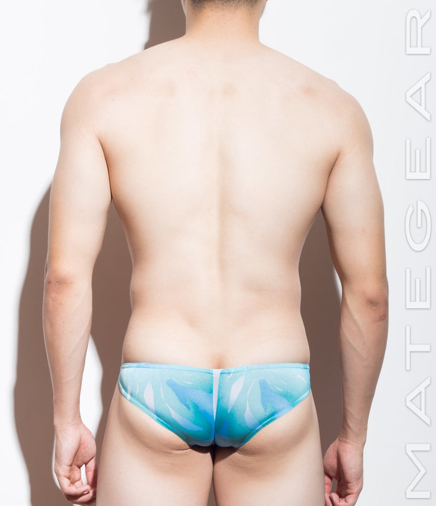 MATEGEAR - Sexy Men's Swimwear, Underwear, Sportswear and Loungewear - SALE! Sexy Men's Swimwear Ultra Swim Pouch Bikini - Nan Song (Tapered Sides / V-Front) (Special Fabric Series)
