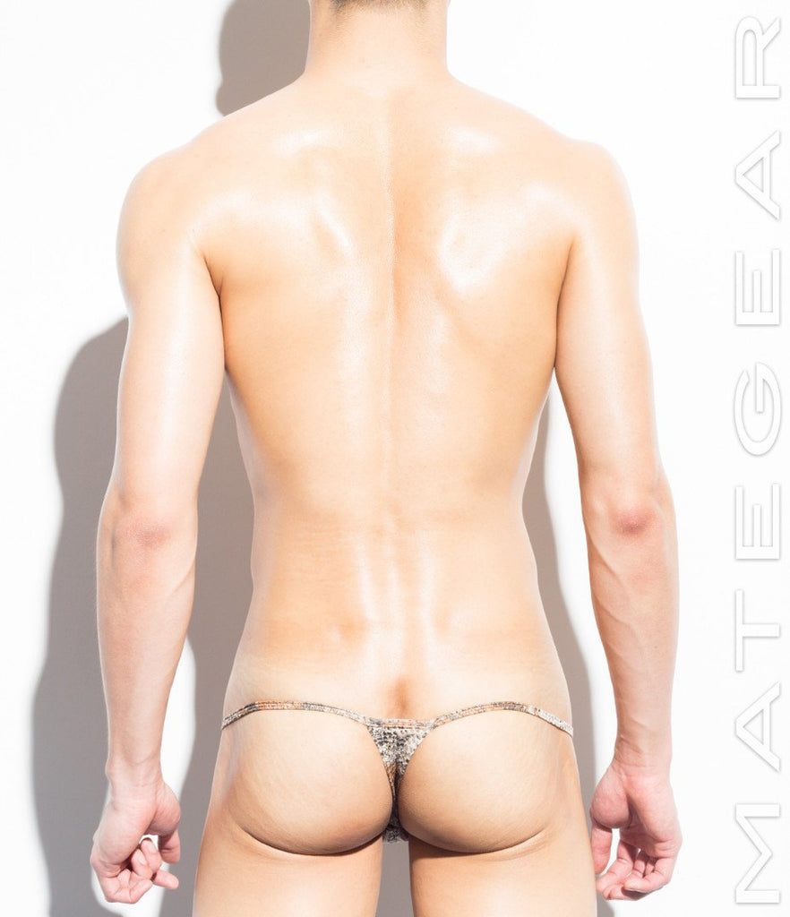 Sexy Men's Underwear Extreme Mini Thongs - Min Seok (Special Fabrics Series) - MATEGEAR - Sexy Men's Swimwear, Underwear, Sportswear and Loungewear