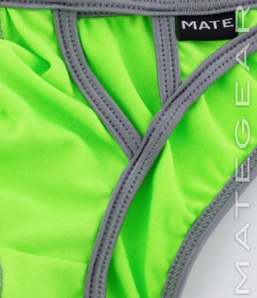 Sexy Mens Underwear Extremely Sexy Mini Bikini - Joo Won (Lime Cotton) - MATEGEAR - Sexy Men's Swimwear, Underwear, Sportswear and Loungewear
