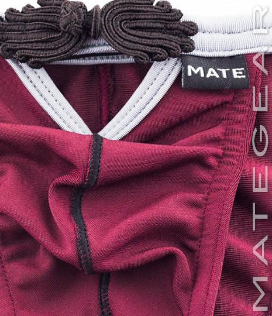 Sexy Men's Underwear Extremely Sexy Mini Bikini - Yo Han (Wine) - MATEGEAR - Sexy Men's Swimwear, Underwear, Sportswear and Loungewear