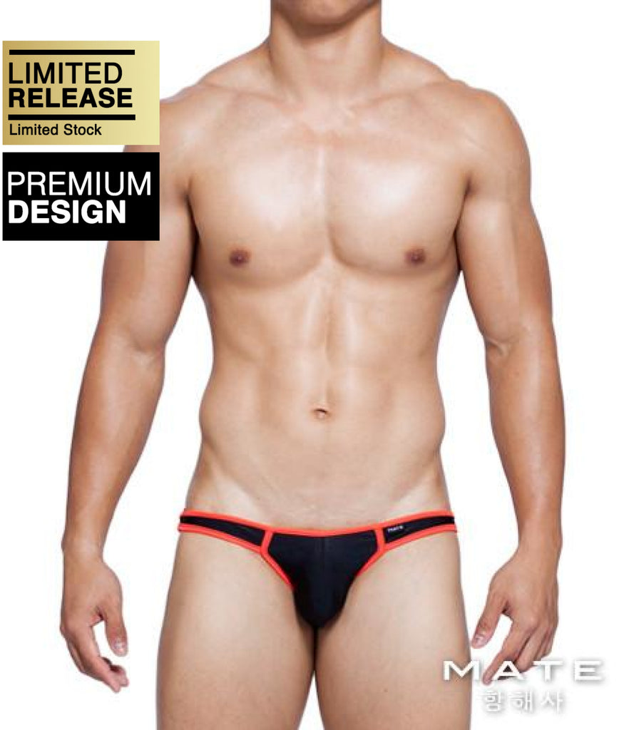 MATEGEAR - Sexy Men's Swimwear, Underwear, Sportswear and Loungewear - Sexy Mens Underwear Ultra Bikini - Kun Woo (Black)
