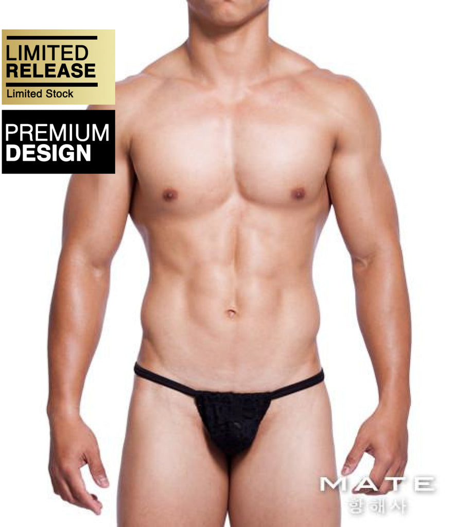 MATEGEAR - Sexy Men's Swimwear, Underwear, Sportswear and Loungewear - Sexy Mens Underwear Very Sexy Ultra G - Min Jun (Black)