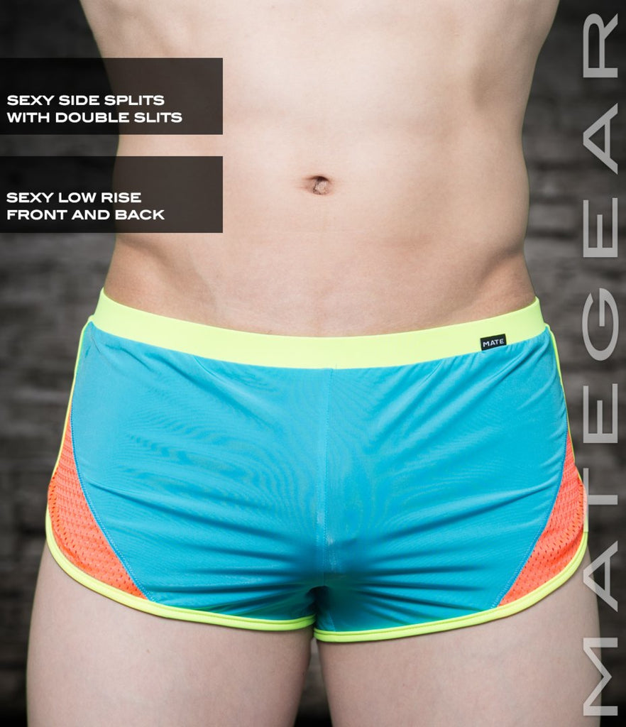 Sexy Mens Loungewear Very Ultra Shorts - Hak Kun (Ultra Thin Nylon Series) Deepskyblue / Small