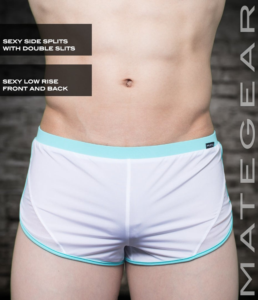 Sexy Mens Loungewear Very Ultra Shorts - Hak Kun (Ultra Thin Nylon Series) White / Small