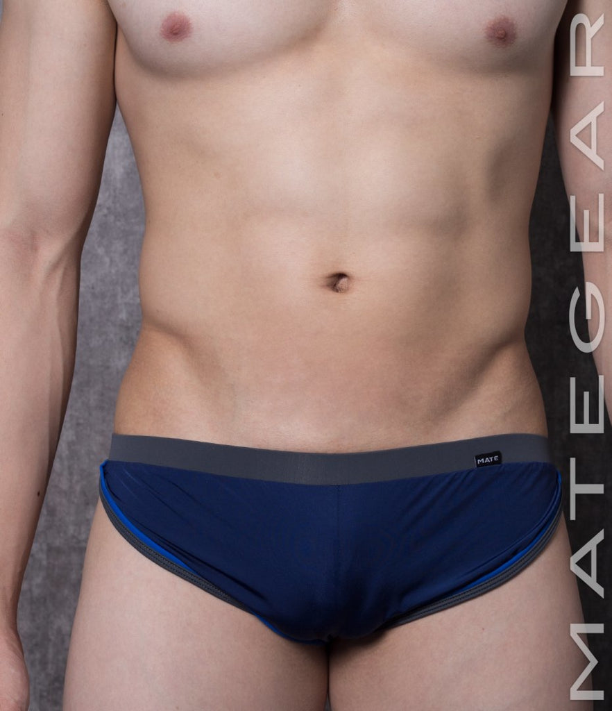 MATEGEAR - Sexy Men's Swimwear, Underwear, Sportswear and Loungewear - Sexy Men's Loungewear Xpression Mini Shorts - Du Mi (Open Back)