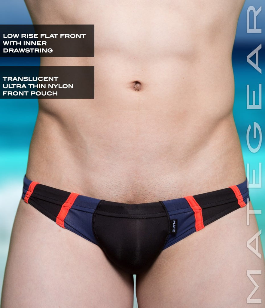 Sexy Mens Swimwear Mini Swim Bikini - An Dong (Translucent Front) Black / Small