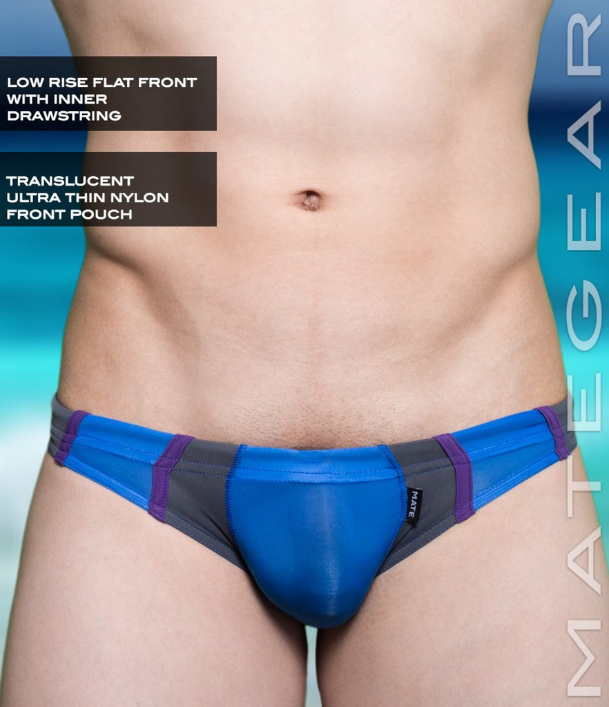 Sexy Mens Swimwear Mini Swim Bikini - An Dong (Translucent Front) Blue / Small