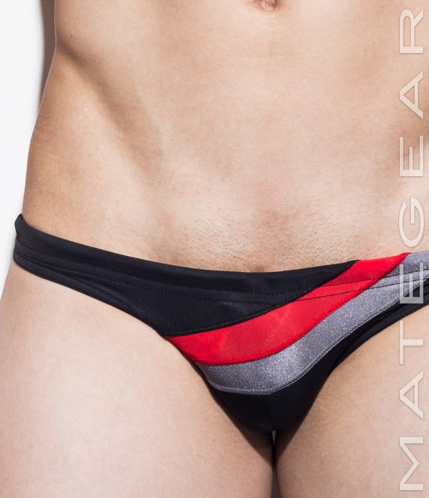 MATEGEAR - Sexy Men's Swimwear, Underwear, Sportswear and Loungewear - Sexy Men's Swimwear Mini Swim Bikini - Rang Ji (Flat Front)
