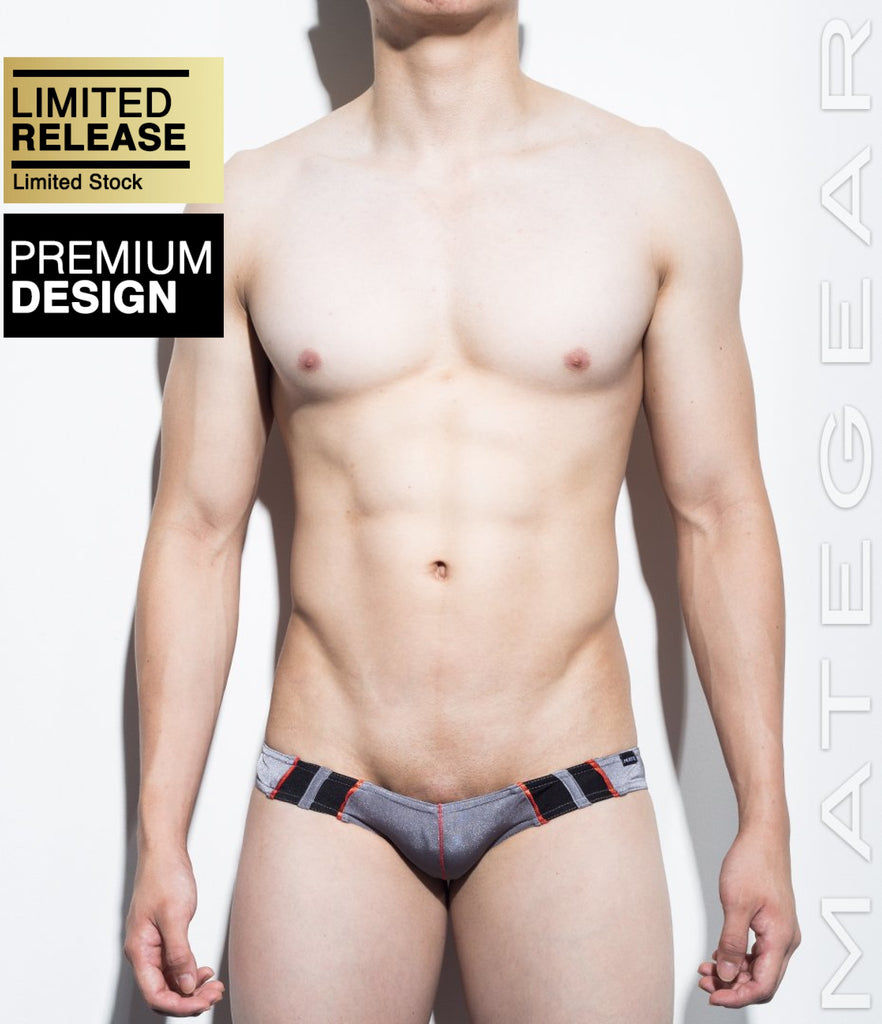 MATEGEAR - Sexy Men's Swimwear, Underwear, Sportswear and Loungewear - Sexy Men's Swimwear Mini Swim Squarecut - Ran Kwang IV (Flat Front / Reduced Sides)