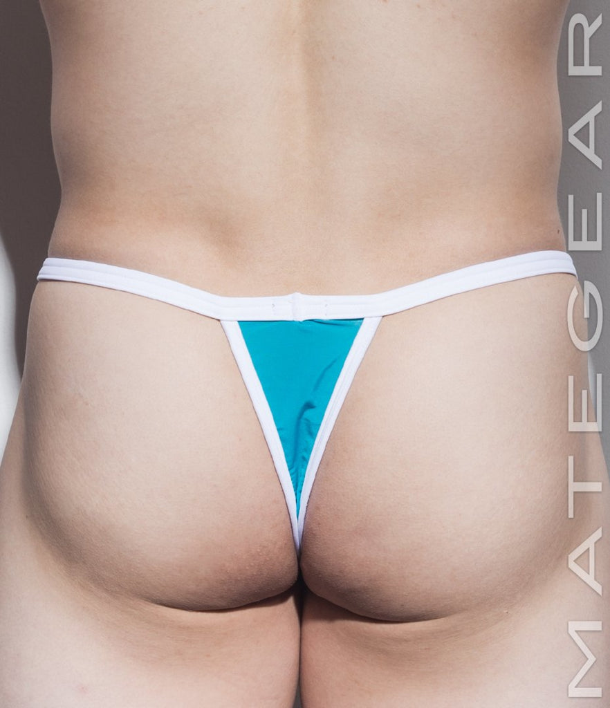 MATEGEAR - Sexy Men's Swimwear, Underwear, Sportswear and Loungewear - Sexy Men's Underwear Bulge Ultra Thongs - Gu Kang (Low Rise Front)