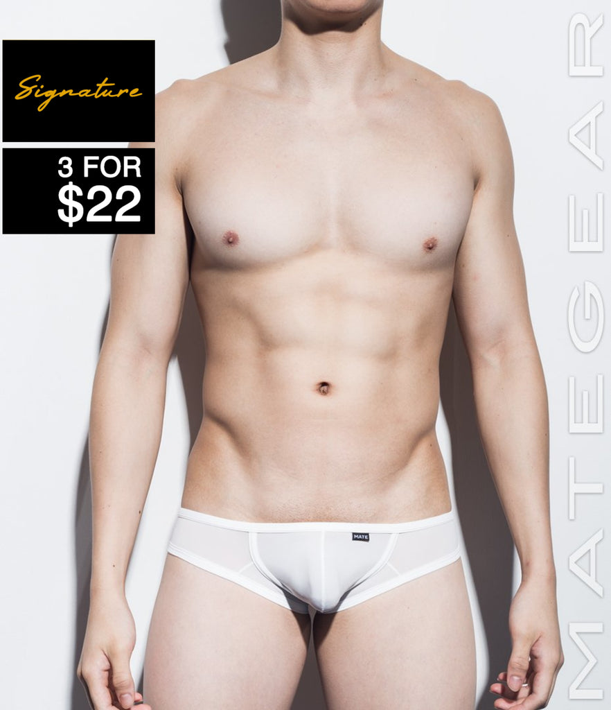 MATEGEAR - Sexy Men's Swimwear, Underwear, Sportswear and Loungewear - Sexy Men's Underwear Signature Mini Squarecut Trunks - Da Hee (Ultra Thin Nylon Series)