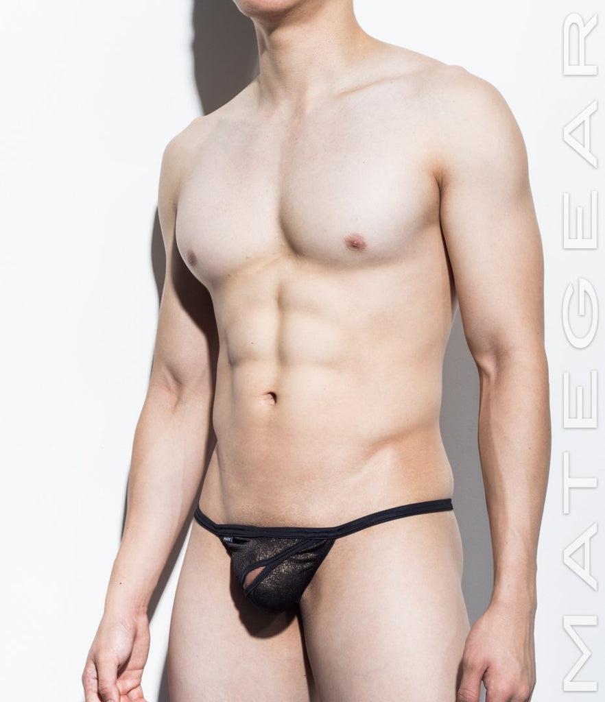 Sexy Men's Underwear Xpression Mini G - Ping Bae (Diagonal Front Slit) - MATEGEAR - Sexy Men's Swimwear, Underwear, Sportswear and Loungewear