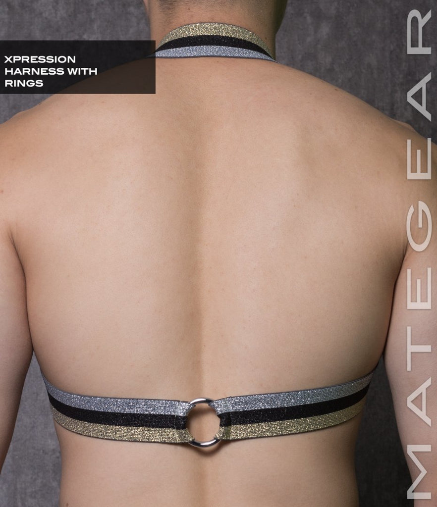 Sexy Men's Xpression Harness - Ho Eun (With Ring Detail) - MATEGEAR - Sexy Men's Swimwear, Underwear, Sportswear and Loungewear