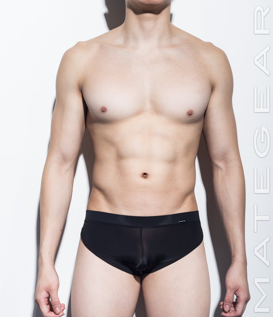 MATEGEAR - Sexy Men's Swimwear, Underwear, Sportswear and Loungewear - Sexy Men's Loungewear Signature Mini Shorts - Ki Nam (Ultra Thin Nylon Series)