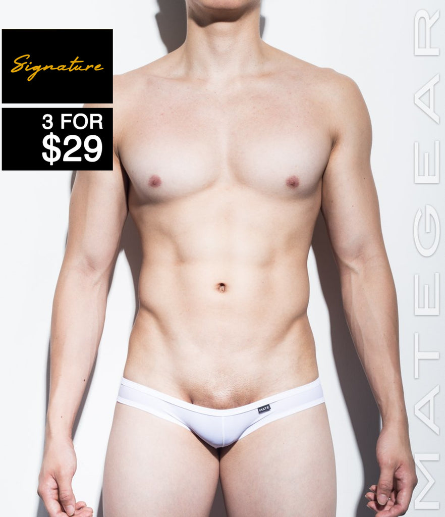 MATEGEAR - Sexy Men's Swimwear, Underwear, Sportswear and Loungewear - Signature Mini Swim Squarecuts - Ran Kwang (Solid Series II / Flat Front / Without Lining)