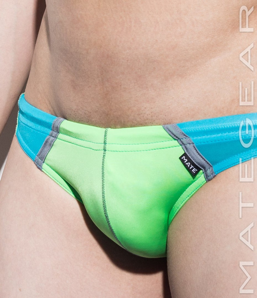 MATEGEAR - Sexy Men's Swimwear, Underwear, Sportswear and Loungewear - Ultra Swim Bikini - Jun Won (Flat Front / Translucent Back Panel )