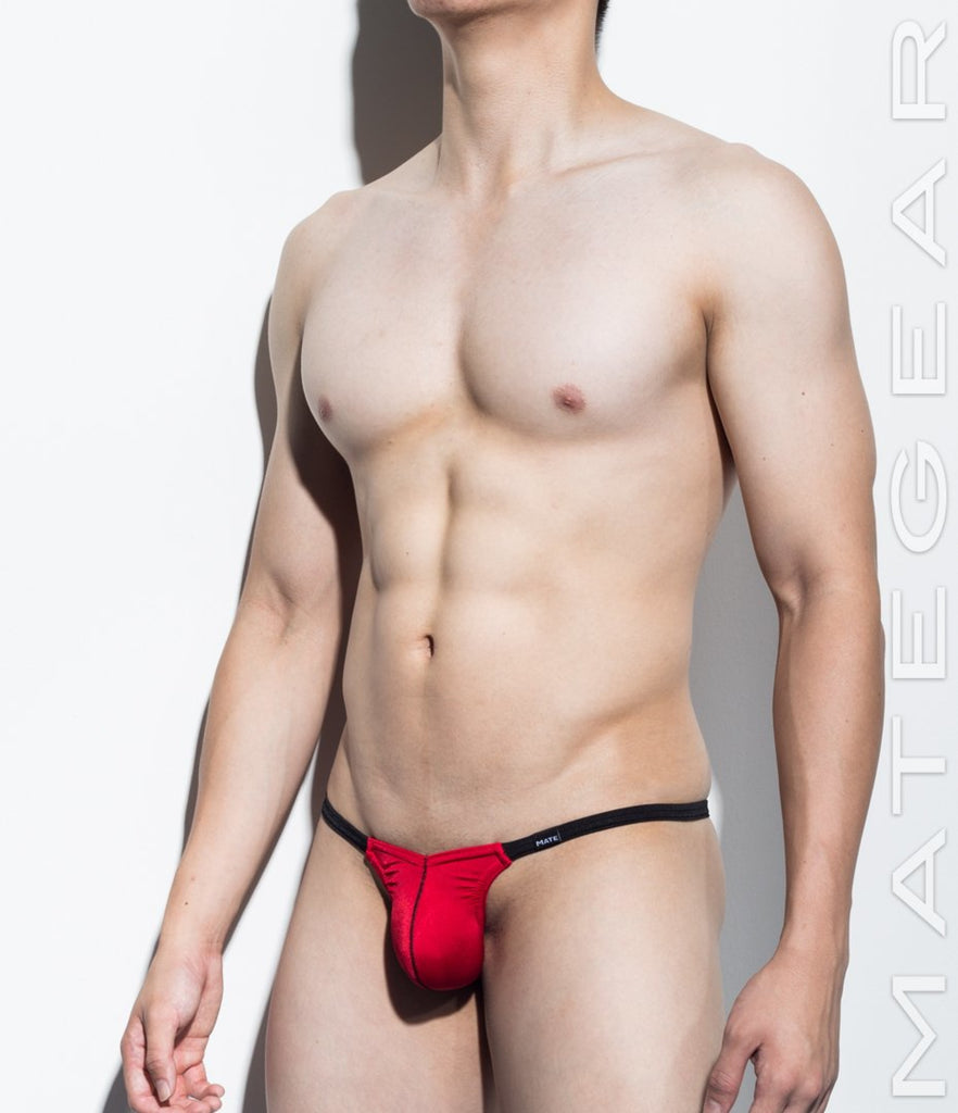 MATEGEAR - Sexy Men's Swimwear, Underwear, Sportswear and Loungewear - Ultra Swim Pouch Bikini -  Ro Jun (Xpression Half-Back Thong)