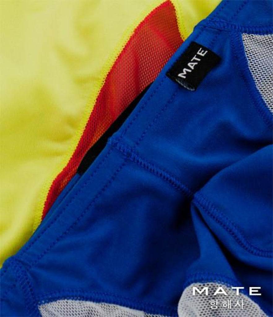 MATEGEAR - Sexy Men's Swimwear, Underwear, Sportswear and Loungewear - Very Sexy Ultra Bikini - Jong Kwan (Yellow Air Nylon)