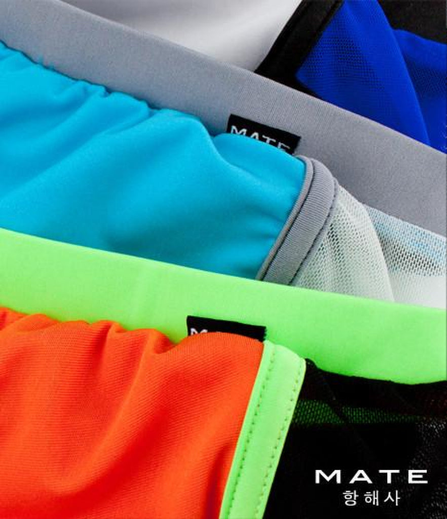 Very Sexy Ultra Shorts - Hyun Woo (Orange) - MATEGEAR - Sexy Men's Swimwear, Underwear, Sportswear and Loungewear