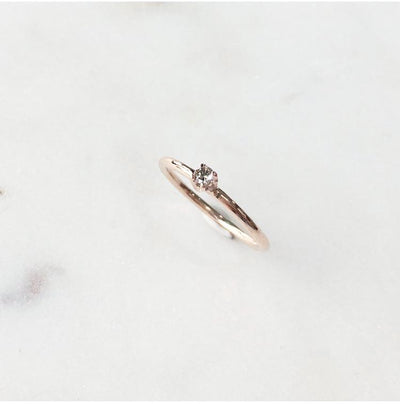 CHAMPAGNE DIAMOND / STACK RING