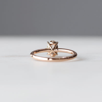 OVAL / ARGYLE SOLITAIRE RING