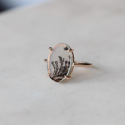 DENDRITIC / AGATE RING
