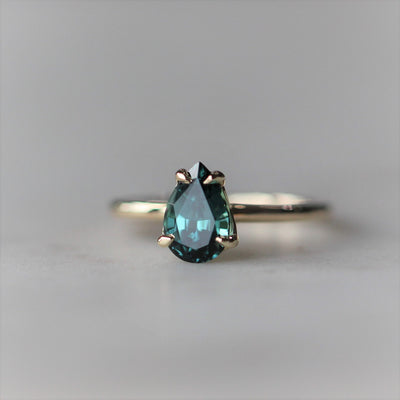 TOURMALINE PEAR RING