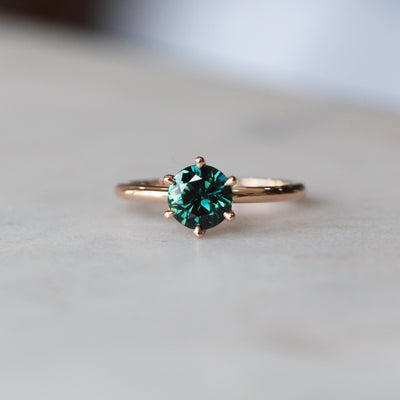 GREEN PARTI SAPPHIRE RING