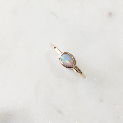 OPAL RING / MINI BEZEL