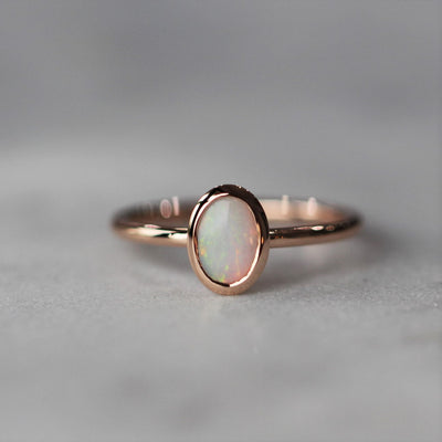 MINI OPAL RING / BEZEL SETTING