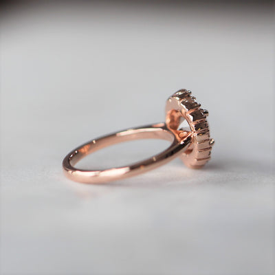 MORGANITE / VINTAGE HALO RING