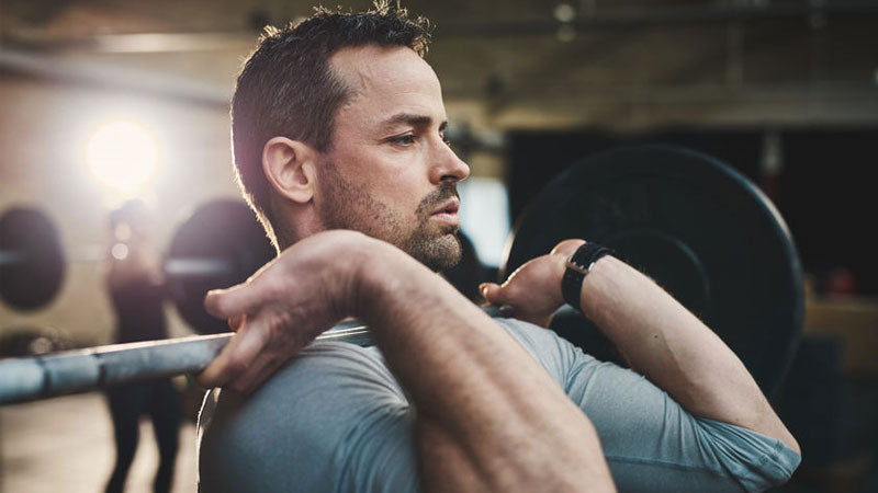 Athlete improving focus with mental rehearsal in the gym