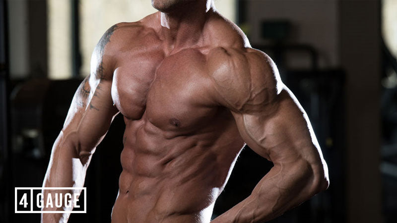 Lean, muscular athlete using pre workout