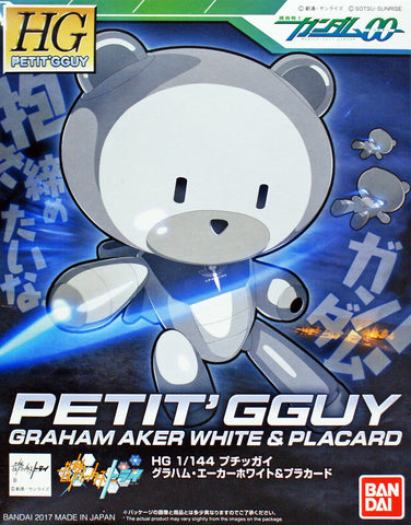 X0615 1/144 HG Build Fighters Petit GGuy Graham Aker White & Placard