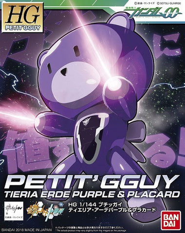 X0614 1/144 HG Build Fighters Petit GGuy Tieria Erde Purple & Placard