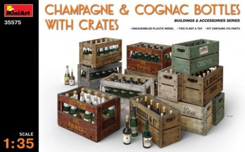 X5301 1/35 Champagne & Cognac Bottles with Crates