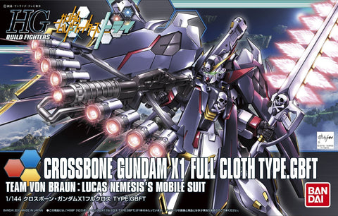 X0316 1/144 HGBF #035 Crossbone Gundam X1 Full Cloth TYPE GBFT