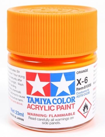 X3183 Tamiya Acrylic X-6 Orange