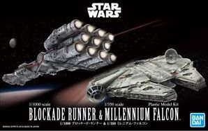 X1788 Star Wars 1/1000 Blockade Runner & 1/350 Millennium Falcon
