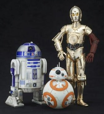 X5873 Kotobukiya ARTFX+ 1/10 Star Wars C-3PO R2-D2 and BB-8