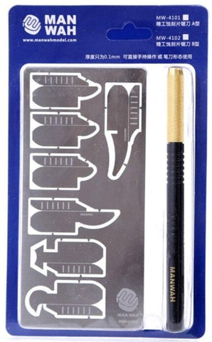 X4899 PE Saw Scribing Set with BLUE Handle
