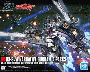 X1774 1/144 HGUC 218 RX-9/A Narrative Gundam A Packs