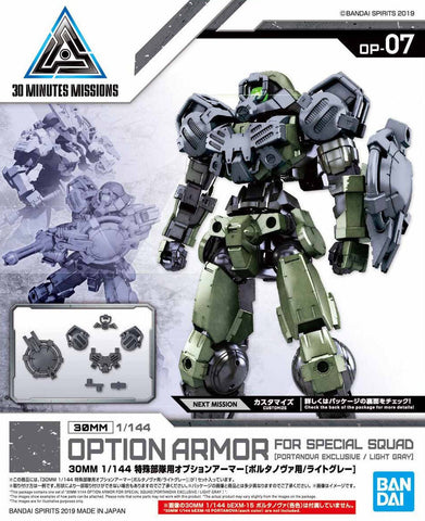 X2924 1/144 30MM Option Armour for Special Squad Portanova Exclusive Light Gray