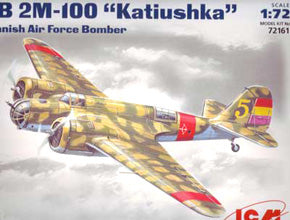 X5406 ICM 1/72 SB 2M-100 Katiushka Spanish Air Force Bomber