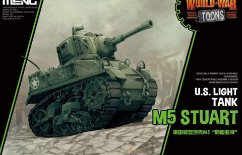 X4403 World War Toons US Light Tank M5 Stuart